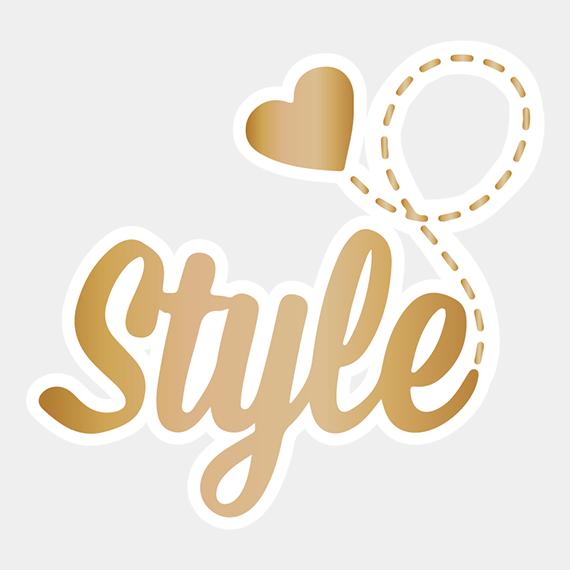 STRIKJES FLOWER EARRING GOLD/BEIGE